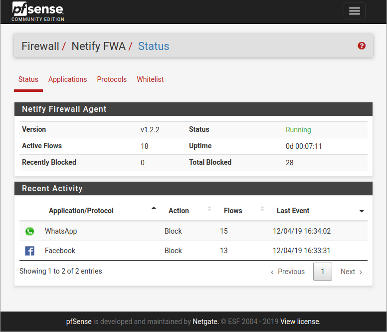 Netify FWA on pfSense