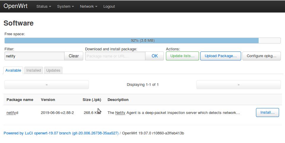 OpenWrt Netify Install